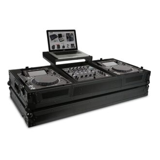 UDG Ultimate Flight Case Pioneer CDJ-2000/ 900NXS2 Black Plus (Laptop Shelf + Wheels)