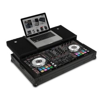 UDG Ultimate Flight Case Pioneer DDJ-RX/SX/SX2 Black Plus (Laptop Shelf)