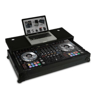 UDG Ultimate Flight Case Pioneer DDJ-RZ/SZ/SZ2 Black Plus (Laptop Shelf + Wheels)