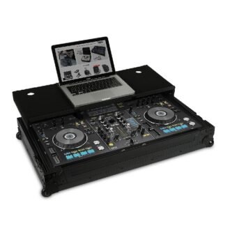 UDG Ultimate Flight Case Pioneer XDJ-RX Black Plus (Laptop Shelf + Wheels)