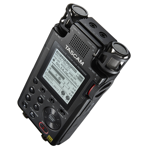 Professional Handheld Recorder (top right view)